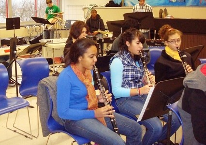 Band Rehearses for Winter Concert