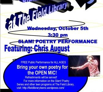 Slam Poetry Wed. Oct 5th