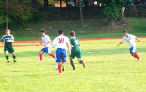 boys varsity soccer team defeated Poughkeepsie today 5-2