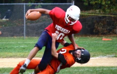 Peekskill Modified Football Battles Mamaroneck