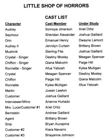 little shop cast list