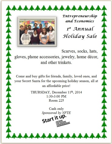 Come support the 1st annual NFTE Holiday Sale