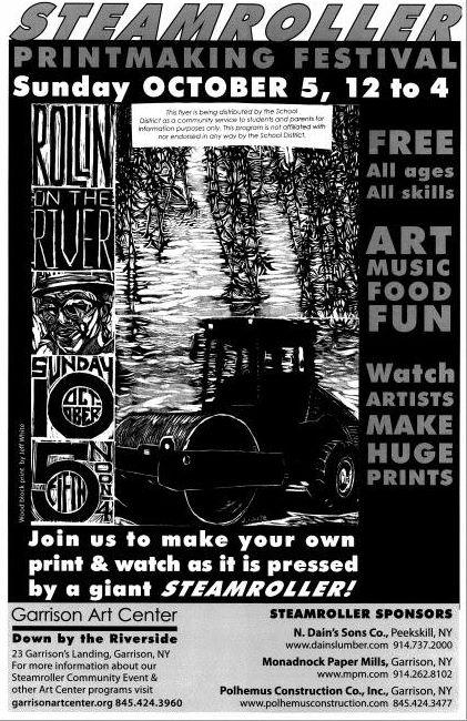 PHS participating in Garrison Art Center's Steamroller Print Making Festival