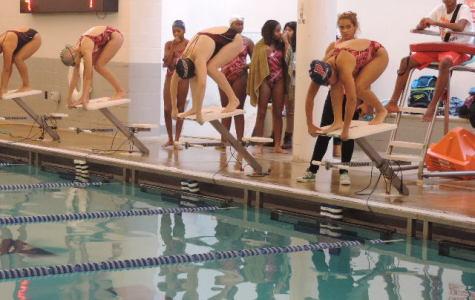 Girls Varsity Swim Team Breaks the 200 Medley Relay Record!!!