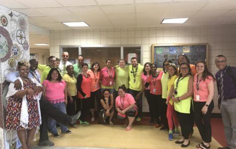 PHS Staff Show Their School Spirit on Neon Day